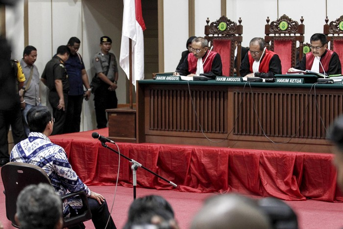 Ahok menghadapi vonis. Foto: Pool/Kurniawan Masud