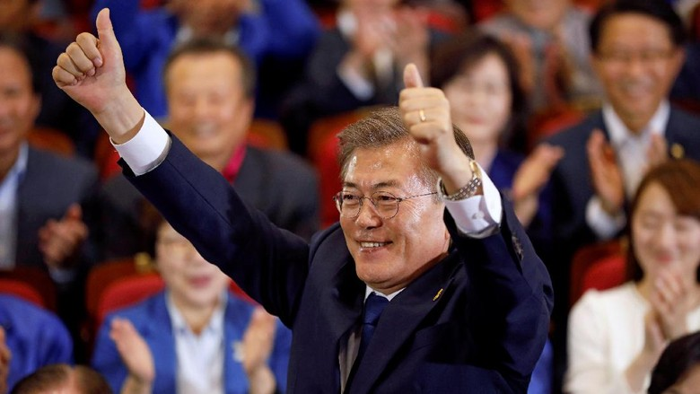 Exit Poll: Politikus Liberal Moon Jae-In Menangi Pilpres Korsel