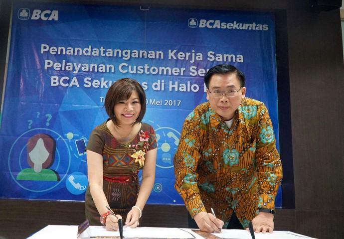 Kerja Sama Pelayanan Customer Service BCA Sekuritas di Halo BCA