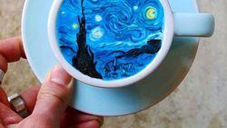 Kopi dengan Latte Art Lukisan Van Gogh, Nggak Tega Minumnya!