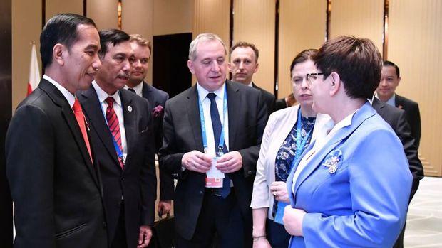 Presiden Jokowi bertemu Perdana Menteri Polandia Beata Szydlo