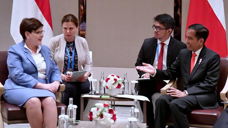 Bertemu PM Polandia, Jokowi Minta Dukungan Soal IEU CEPA