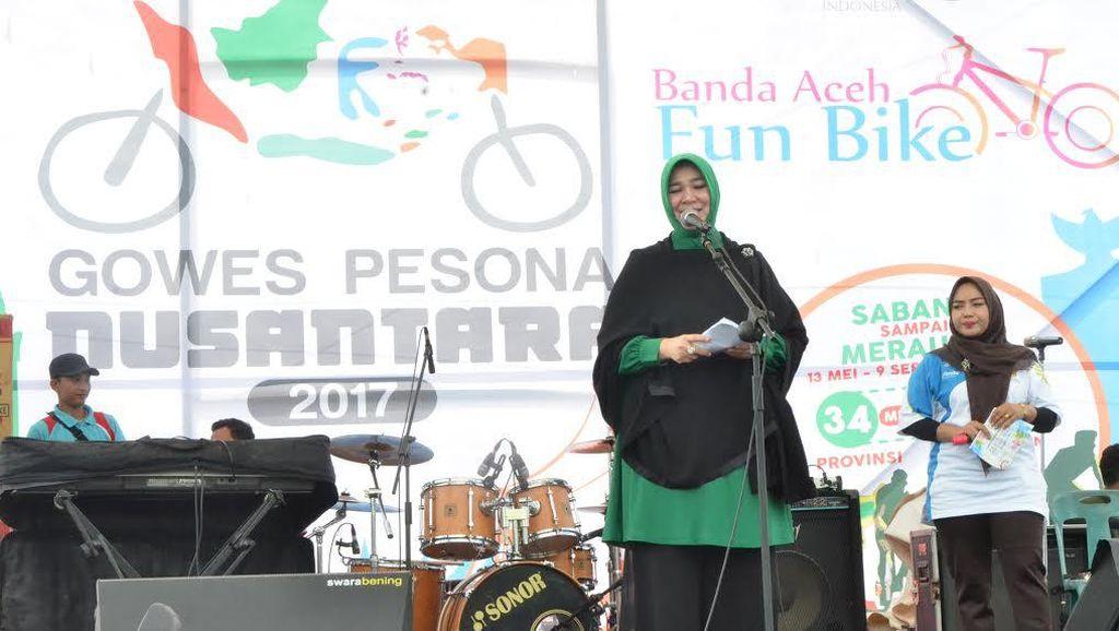 Peserta Gowes Nusantara Semarakkan Fun Bike HUT Kota Banda Aceh