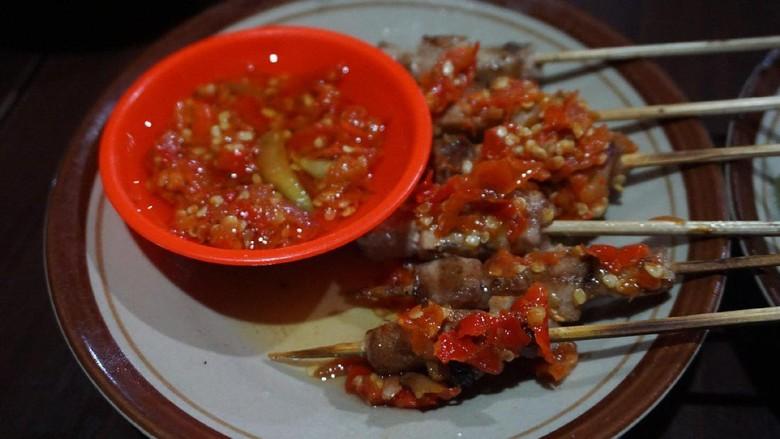 Hidangan sate taichan ala Gorontalo (Wahyu/detikTravel)