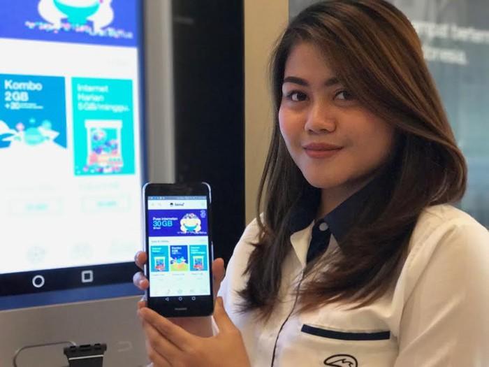 Aplikasi baru Tri. Foto: Adi/detikcom