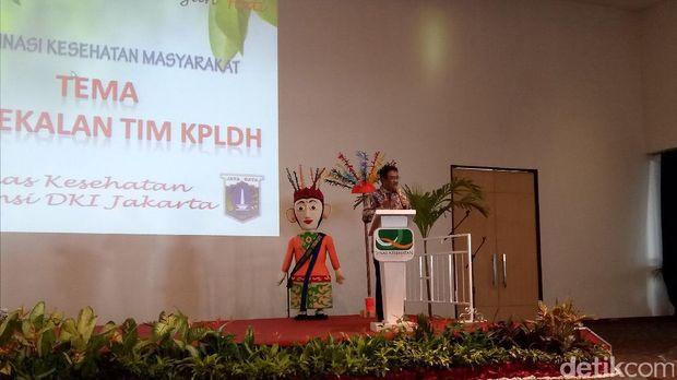 Plt Gubernur DKI Djarot Saiful Hidayat menghadiri acara koordinasi program kesehatan masyarakat di Ballroom Candi Bentar, Ancol, Jakarta Utara, Selasa (16/5/2017)