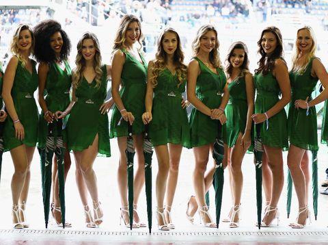 Grid girl di GP Formula 1 Brasil.