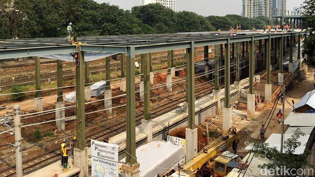 Kondisi Terkini Pembangunan Stasiun Sudirman Baru