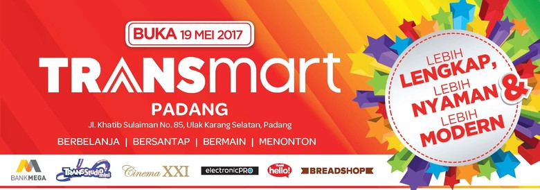 Transmart Carrefour Pekanbaru dan Transmart Padang Dibuka Besok