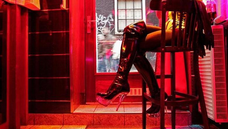 Foto: Ilustrasi kehidupan malam di Red Light District Amsterdam (AFP/CNN Travel)
