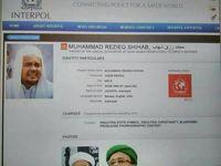 Gambar soal red notice terhadap Habib Rizieq yang beredar.