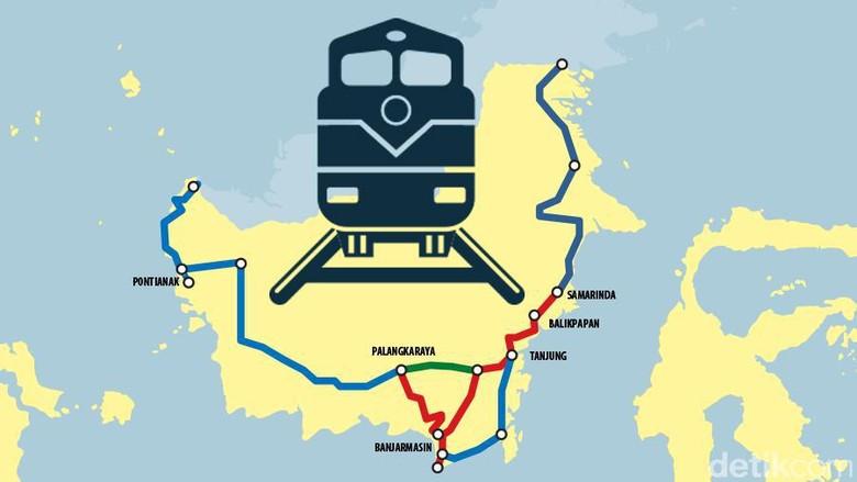 Seberapa Penting Bangun Rel Kereta di Kalimantan?