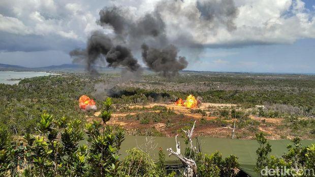 Latihan PPRC TNI di Natuna.