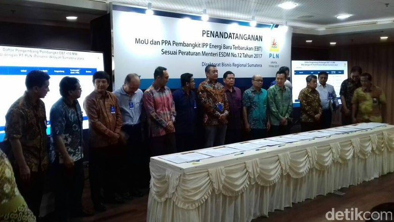 PLN Teken Kerja Sama Pengadaan Listrik Sumatera 283 MW