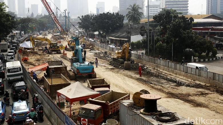 Pembangunan Underpass Mampang Terus Dikebut