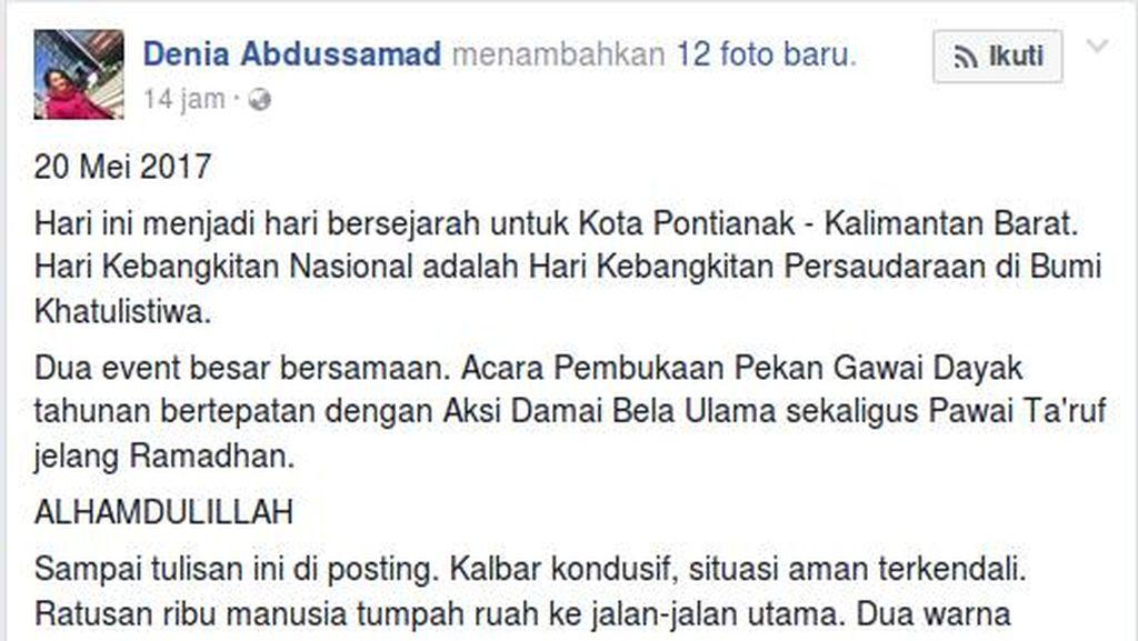 Miss Kalbar Bicara Indahnya Merah-Putih dan Kutuk Provokasi