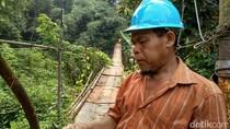 Warga Harap Pemerintah Segera Benahi Jembatan Gantung di Jagakarsa