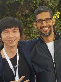 Reggie dengan CEO Google Sundar Pichai