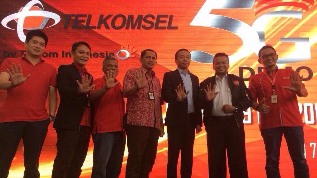 Demo 5G Telkomsel Tembus 70 Gbps