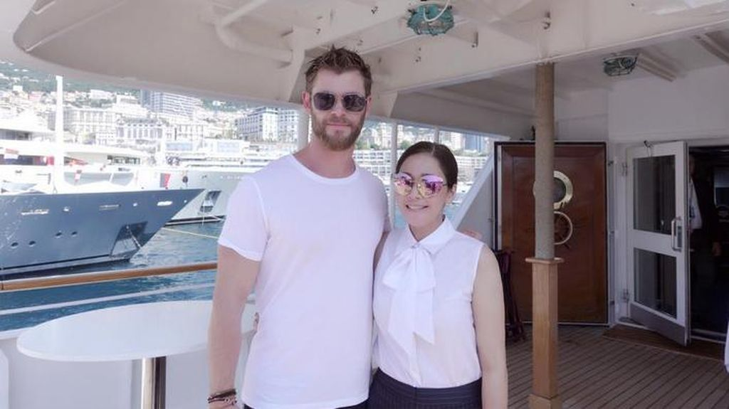 Chris Hemsworth, Maia Estianty dan Monako