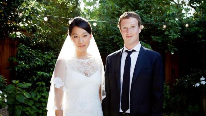 Mark Zuckerberg dan sang istri, Priscillia Chan (dok. Facebook)