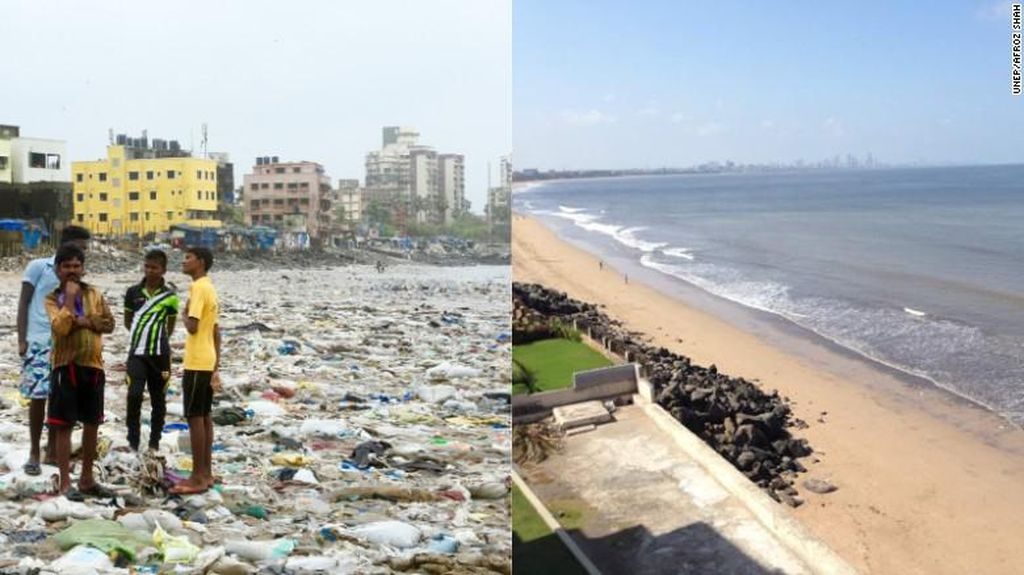 Kisah Inspiratif! Pantai Penuh Sampah di India yang Kini Cantik Jelita