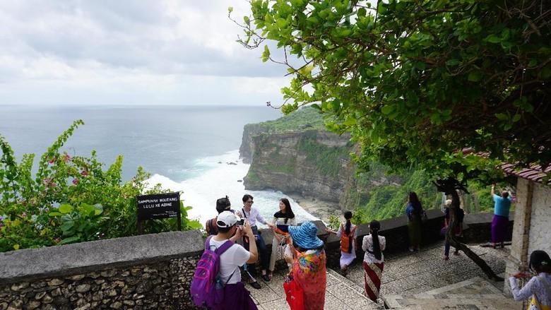 Pantai Tebing di Pura Uluwatu, Bali (Masaul/detikTravel)