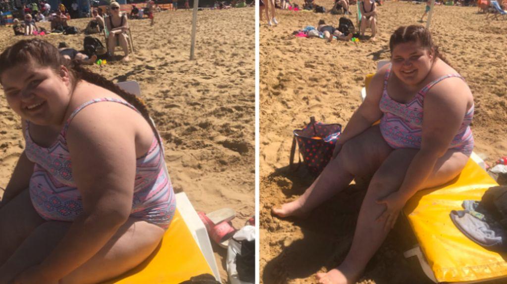Viral, Foto Remaja Gemuk yang Akhirnya Berani Pakai Baju Renang di Pantai
