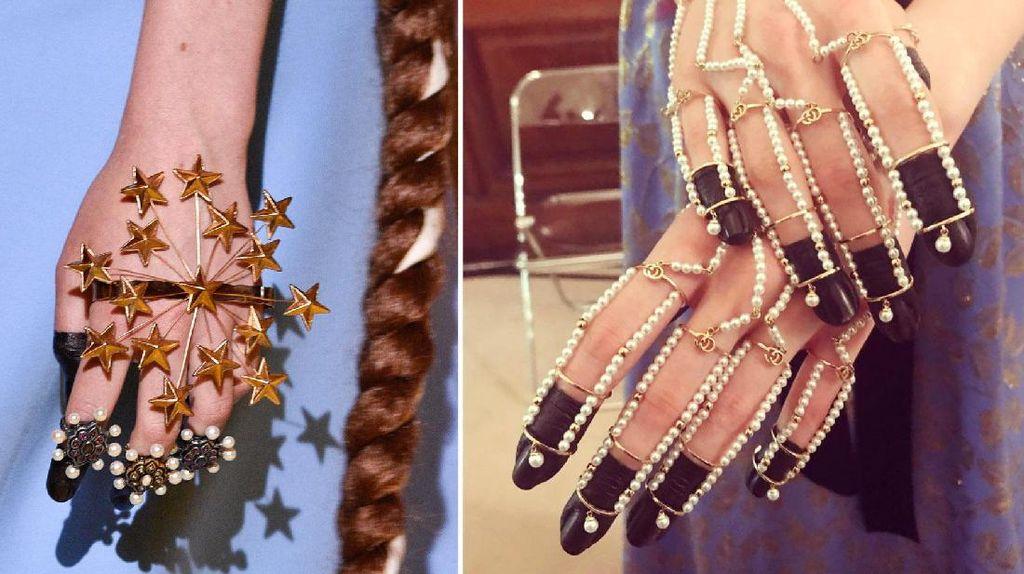 Unik, Kuku Para Model Dicelup Tinta Hitam di Fashion Show Gucci