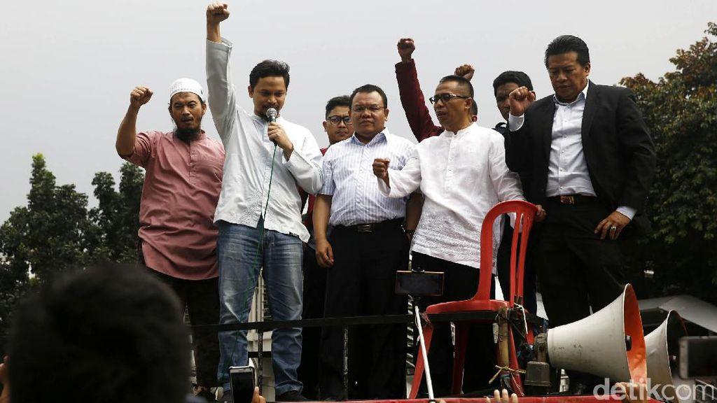 Hanafi dan Dradjad Temui Pendukung Amien Rais di KPK