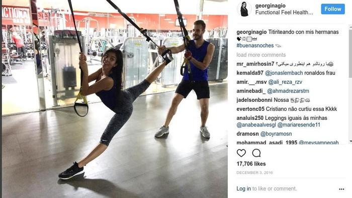 Georgina Rodriguez sepertinya doyan olahraga (Foto: instagram)