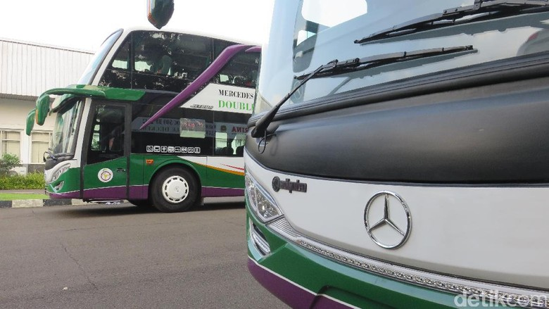 Mengintip Jeroan Bus Tingkat Mewah Buat Mudik ke Surabaya-Madura