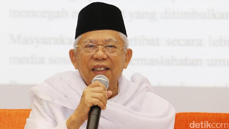 KH Maruf Amin: Tidak Benar Islam Identik dengan Khilafah