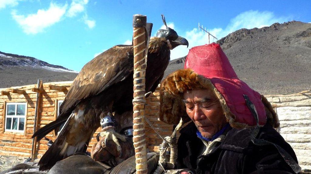 Kisah Muslim Pemburu Elang Legendaris di Mongolia
