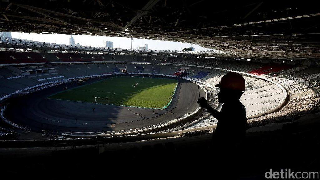 Renovasi Nyaris Capai 70%, Stadion GBK Tunjukkan Wajah Baru