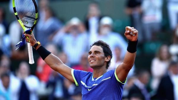 Menang <i>Straight Set</i> atas Thiem, Nadal Tantang Wawrinka di Final