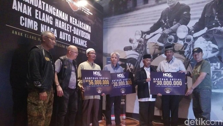 Bikers Harley Sumbang Ratusan Juta untuk 3 Yayasan Sosial