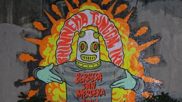 'Jakarta Tidak Takut' Mural Karya Seniman Jalanan Indonesia Hadapi Teror Bom