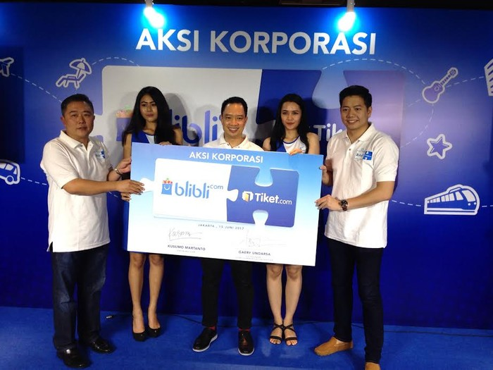 Akuisisi Blibli pada Tiket.com. Foto: Agus Tri Haryanto/inet