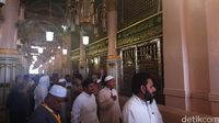 Dinding hijau makam Nabi Muhammad (Fitraya/detikTravel)Dinding hijau makam Nabi Muhammad (Fitraya/detikTravel)