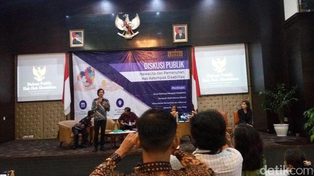 diskusi 'Nawacita dan Pemenuhan Hak Kelompok Disabilitas' di Gedung III Setneg.