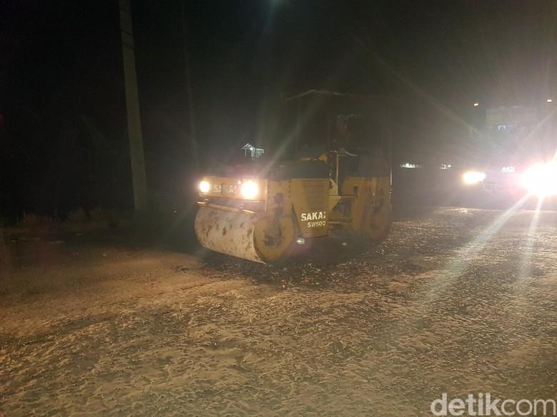 Jelang Arus Mudik, Dishub Kota Sukabumi Kebut Tambal Jalan Rusak