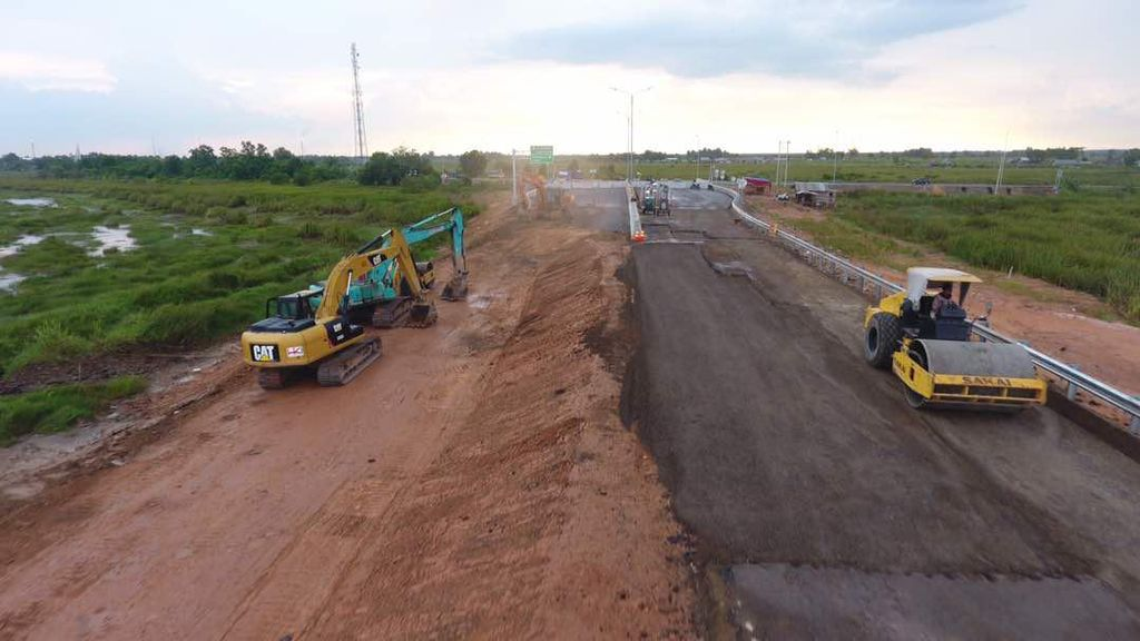 Pagi Ini Jalan Tol Palembang-Indralaya Siap Dilalui Pemudik