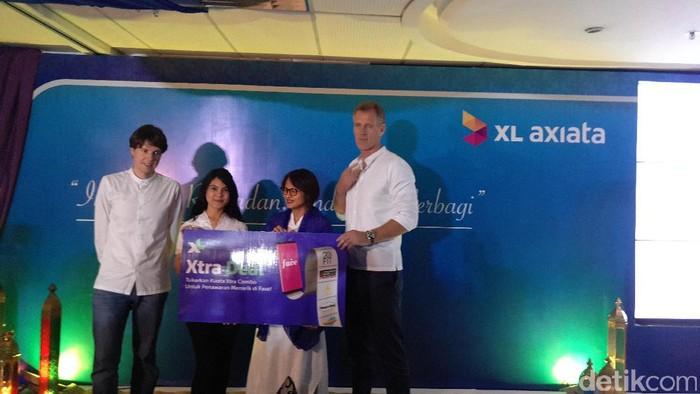 XL pamer layanan Xtra Deal di kantornya. Foto: yud/detikINET