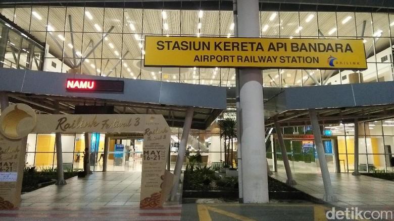 Gedung Stasiun Kereta Api Bandara Kualanamu (Bonauli/detikTravel)