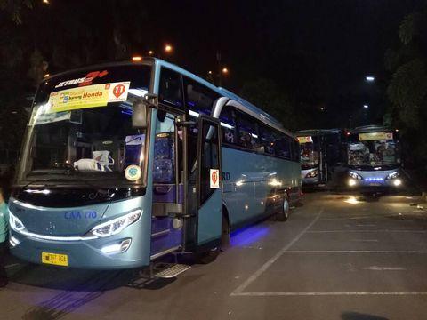 Honda Berangkatkan 2.315 Pemudik Pakai Bus