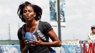 Foto: Gaya Sporty Michelle Obama yang Seksi dan Memukau