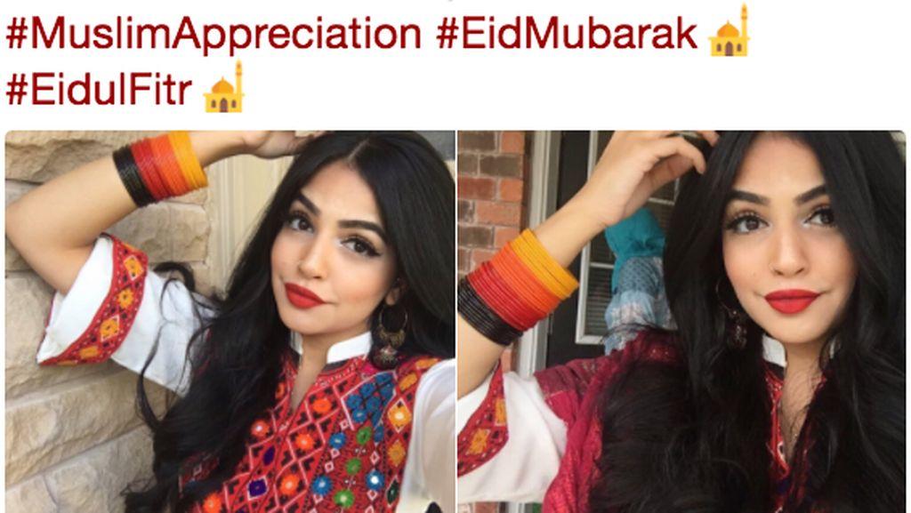 #EidMubarak Jadi Ajang Pamer Selfie Cantik