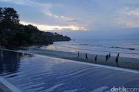 Sunset di pantai privat Jimbaran