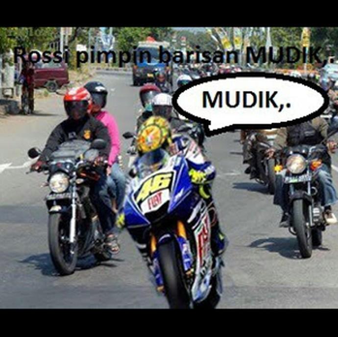 Kumpulan Meme Kocak Mudik dengan Sepeda Motor